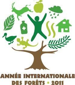 logo officiel en français 2011 année internationale des fortêts